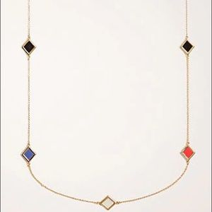 ANN TAYLOR - NWT Geo Station Necklace In Gold